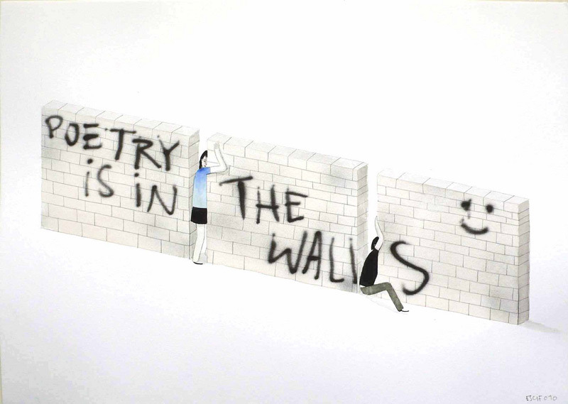 poetry is in the walls